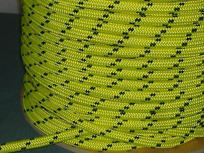 """Double Braid Polyester 1/2""""x300 ft arborist rigging tree rope bull rope yellow"""