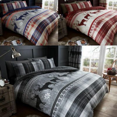 Heritage Stag Christmas Special Luxury Duvet Cover Sets Reversible Bedding Sets