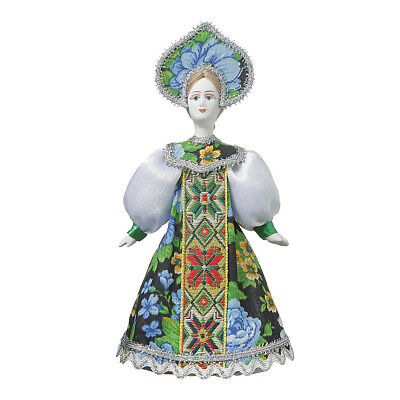 Russian handmade Porcelain Traditional Folk Costume Doll 7.5'' #06-13