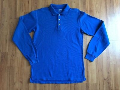 Boys School Uniform Polo LS Shirt Blue French Toast Size 14