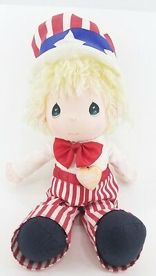 Precious Moments 1985 Plush Doll Boy 4th July Stars & Stripes Applause Vintage