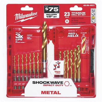 Milwaukee Shockwave Impact Duty Titanium Hex Shank Drill Bit Set (23-Piece)