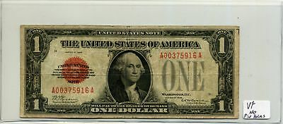 United States Note $1 One Dollar 1928 Red Seal in VF Condition SN A00375916A