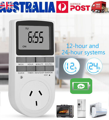 Digital Timer Switch Socket 240V Automation Electric Programmable Powerpoint AU