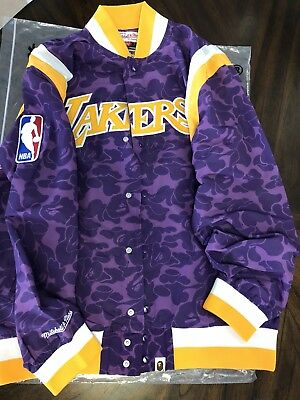 f5f05153 BAPE LAKERS MITCHELL And Ness Exclusive Early Release RARE ...