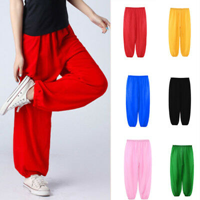Children Girls Boys Kids Baggy Dance Costume Bloomers Trousers Harem Pants
