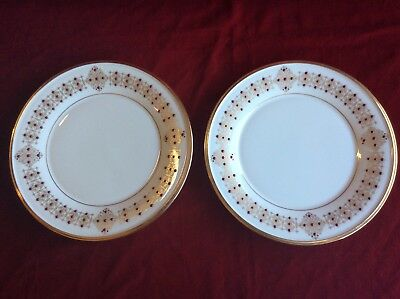 "2 LENOX DIMENSION GOLD & RED ETERNAL CHRISTMAS ACCENT 9 1/4"" Luncheon Plates"