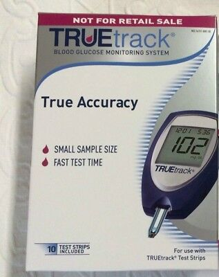 Truetrack Blood Glucose Monitoring  Complete kit Include 10 Test Strips