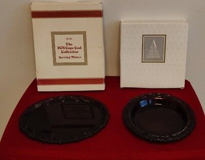 Avon 1876 Cape Cod Ruby Red Collection (1) Serving Platter & (1) Pie Dish