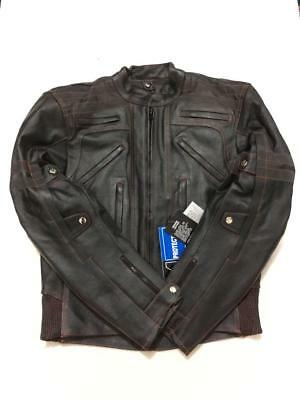 Mens Motorbike Cowhide Leather Jacket /coat Armoured Motorcycle Winter jacket