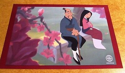 Walt Disney World MULAN Animation Art PROMO Postcard Beautiful Blossom RARE!