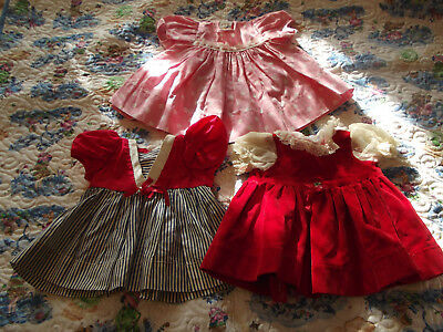 """Vintage Lot Chatty Cathy Style Doll Dresses 1950s~1970s Fits 18"""" Dolls and Up"""