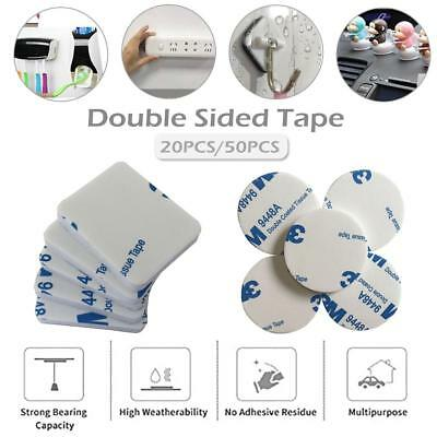 20/50pcs Double Sided Foam Adhesive Pad Mounting White Waterproof Tape Tool Sets