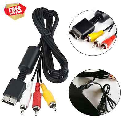 1.8m RCA TV Audio Cable AV Composite Lead Sound Video For Playstation PS2 PS3