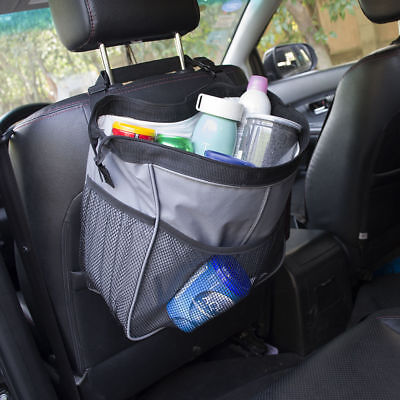 Suspension Type Closed Car Storage Bag Auto Car Garbage with Cup Holder Mesh Bag