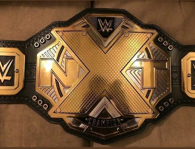 New WWE NXT Wrestling Championship Title Belt 4mm Gold Adult Size