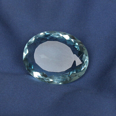 51.00 Ct. Natural Aquamarine Greenish Blue Color Perfect Oval Cut Loose Gemstone