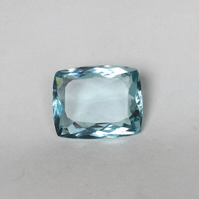 54.00 Ct. Natural Aquamarine Greenish Blue Color Cushion Cut Loose Gemstone