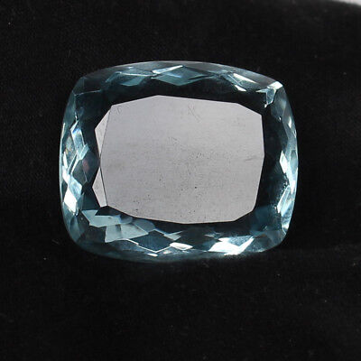 42.35 Ct. Natural Aquamarine Greenish Blue Color Cushion Cut Loose Gemstone