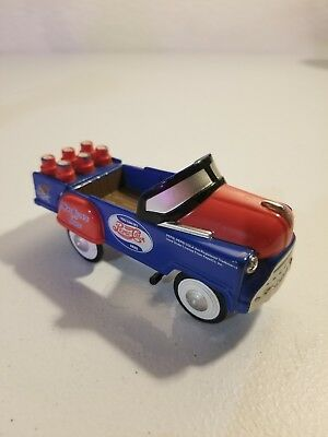 Vintage Golden Classic Pepsi-Cola Die Cast Metal Pedal Car- Missing Steer Wheel