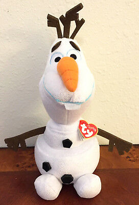 "TY SPARKLE BEANIE Buddies Disney Frozen OLAF 8"" Snowman Plush Toy ... 7dd383302804"