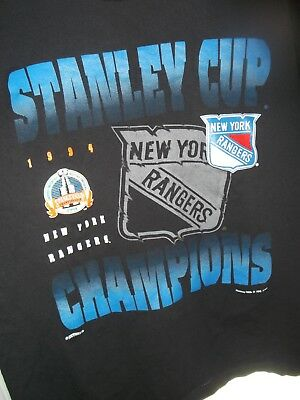 Vintage Nutmeg 1994 New York Rangers Stanley Cup Champions T-Shirt Extra Large