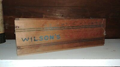 "Vintage Wood 5 Lb. Cheese Box Wilson & Co - 12"" Long"