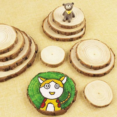 Round Wood Log Slices Discs for Wedding Centerpieces Table Decor DIY Craft