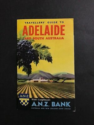 Anz Bank Travellers Guide To Adelaide & South Australia, Fold-Out Map