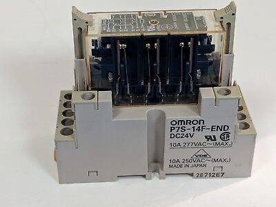 Omron P7S-14F-END Relay Base w/Omron G7S-4A2B-E Relay