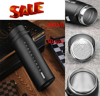 Thermos Cup Travel Vacuum Mug Coffee Tea Stainless Steel Flask Water Bottle 30oz