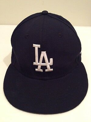 New Era 59Fifty Los Angeles LA Dodgers Game Fitted Hat (Dark Royal) MLB Cap eaf8d0936069