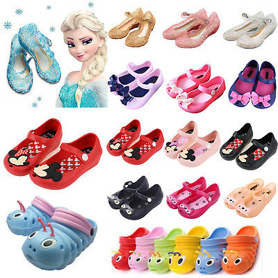 b78cb4392bba Toddler Kids Boys Girls Summer Beach Sandals Slip On Casual Flat Jelly Shoes