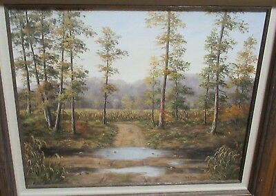Anita Hoehne Original Oil On Canvas River Road Landscape Painting
