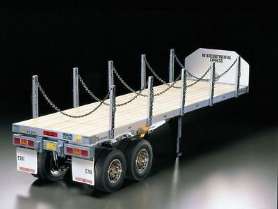 Tamiya RC Flatbed Semi Trailer 1/14 Assembled model for Tractor Truck F/S F/S