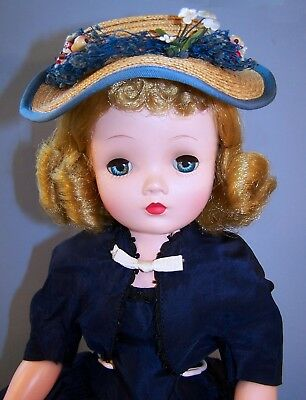Vintage Madame Alexander Cissy Doll in Navy With Bolero from 1955 - Nearly Mint
