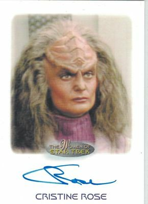 Star Trek Women of Star Trek  50th Anniversary Cristine Rose autograph