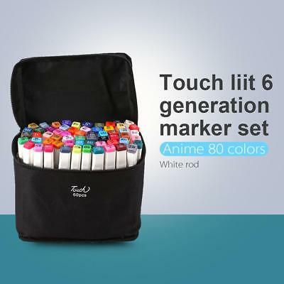 Marker Pen 80 Color Set Graphic Art Sketch Twin Point Broad Point Copic Touch