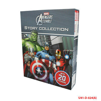 Marvel Avengers Assemble Story 4 books Collection set pack NEW