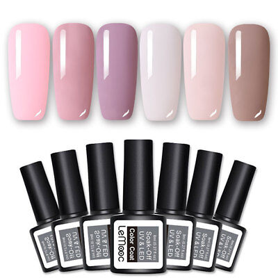 6 Bottles LEMOOC Pink Nude Colors UV Gel Polish Lot Nail UV LED Gel Varnish 8ml