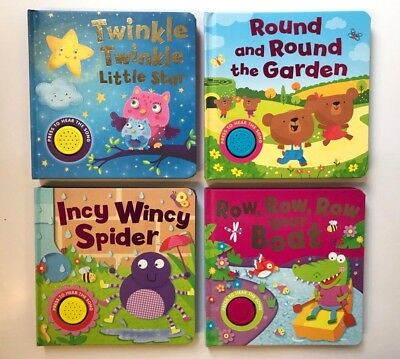 Twinkle Round Garden Incy Wincy Row Boat Set Of 4 Sound Books Ages 0 Months+ New
