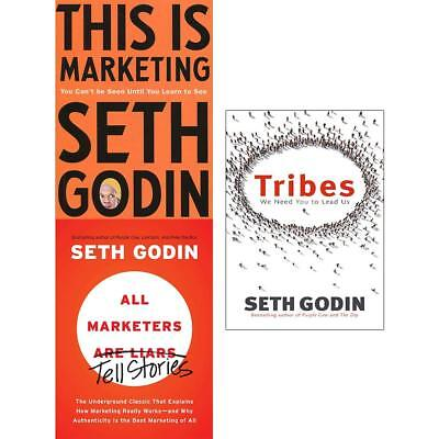 Seth Godin Marketing collection 3 books set This is Marketing, Tribes Pack  NEW