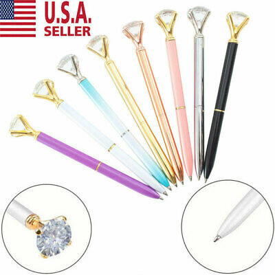 10X crystal diamond pen bling bling metal ballpoint pen great gift for family