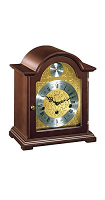 Hermle Hand Made Traditional Bracket Style Mantle Clock - Walnut Finish with