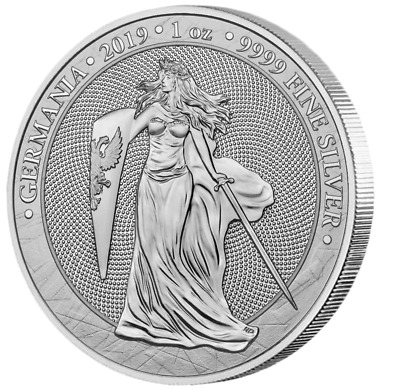 2019 Germania 5 Mark 1oz .999 fine Silver Bullion Coin 1st Year of release