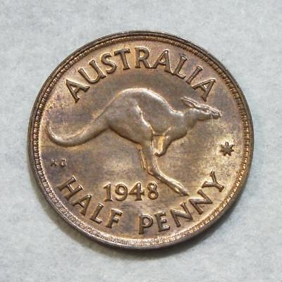 AUSTRALIA 1948 Half Penny Superb Example with Mint Lustre