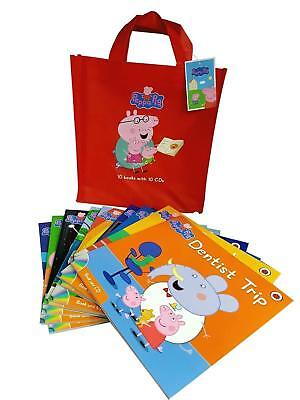 Peppa Pig 10 books with CDS collection Pack Naughty Tortoise Ladybird NEW