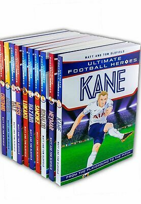 Ultimate Football Heroes collection 10 books set Ronaldo Hazard Tom Oldfield NEW