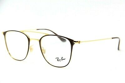 f79960b7b5f7 New Ray-Ban Rb 6377 2905 Gold brown Eyeglasses Authentic Rx Frame Rb6377 48
