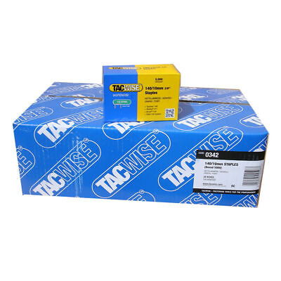 1 x Carton Tacwise 140/10mm Hammer Tacker Staples 0342 (20 Boxes x 5,000)